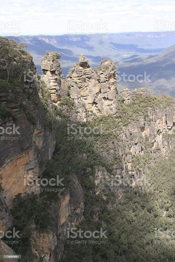 Three Sisters, Echo Point, NSW, Australia royalty-free stock photo