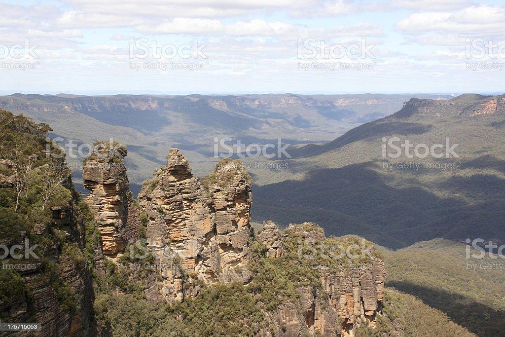 Three Sisters, Echo Point, NSW, Australia royalty-free stock photo