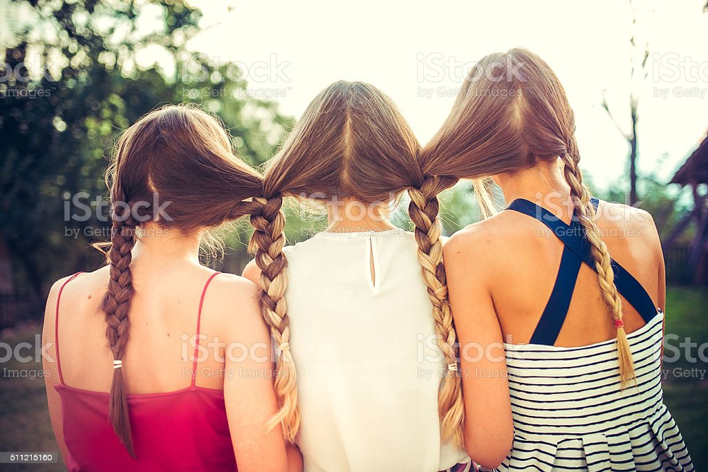 Three sisters... is not Cehov stock photo