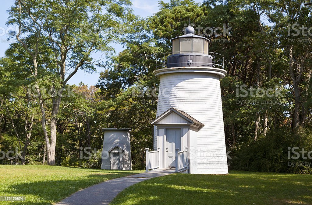 Three Sisters Lighthouses, Cape Cod, Ma royalty-free stock photo