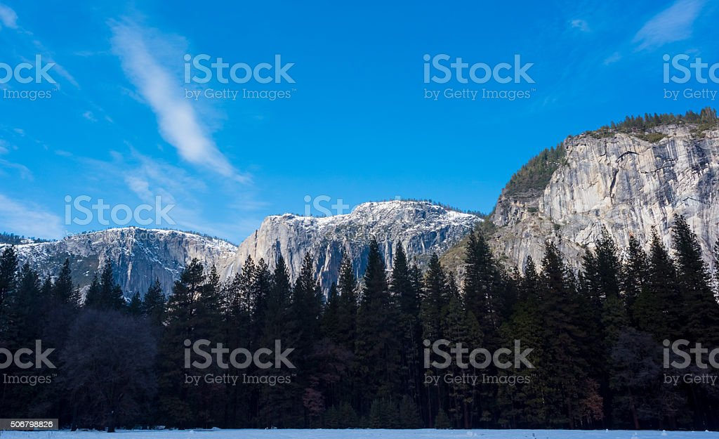 Three Sisters of Yosemite stock photo
