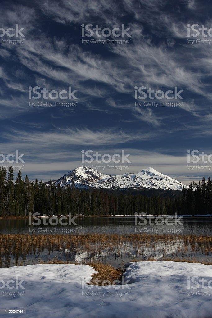 Three Sisters Oregon stock photo