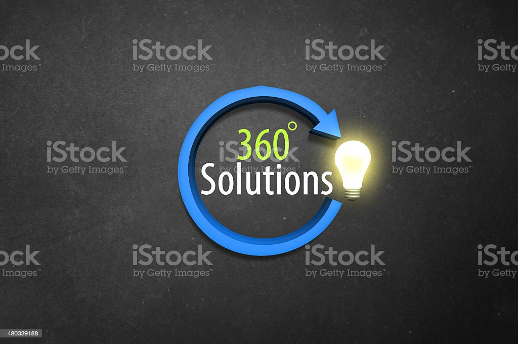 three sixty solutions! stock photo