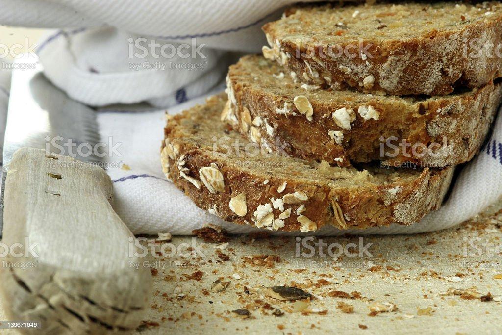 three slices of bread II royalty-free stock photo