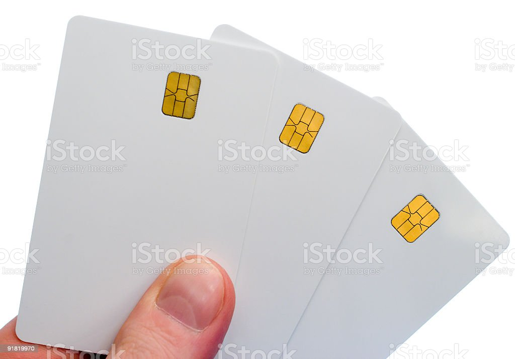 three smartcards royalty-free stock photo