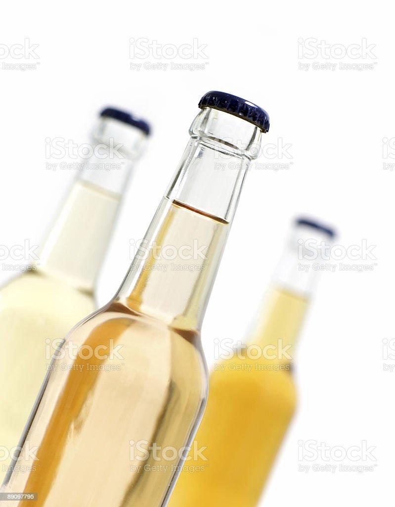 three soda pop / lemonade bottles royalty-free stock photo
