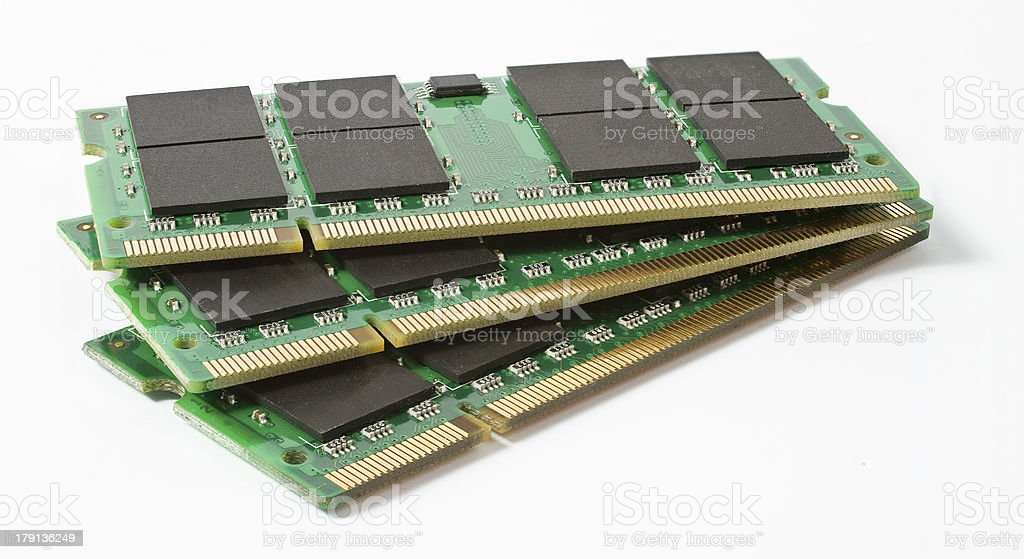 three so-dimm module for use in notebooks royalty-free stock photo