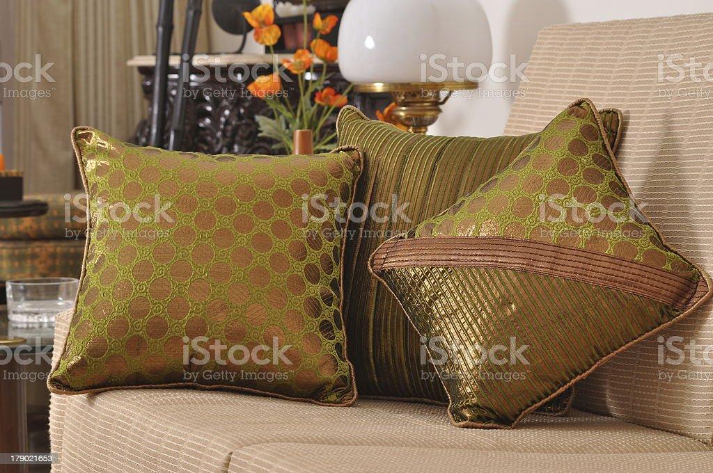 Three sofa cushions royalty-free stock photo