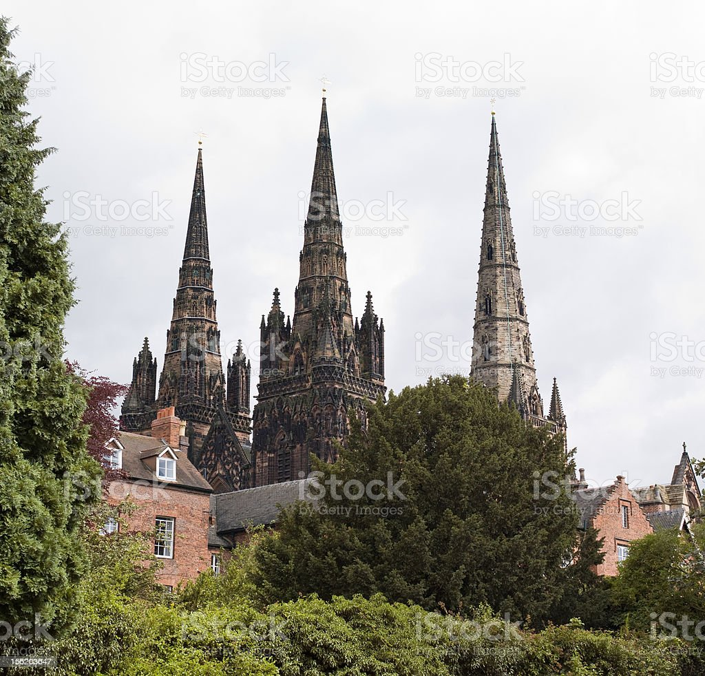 Three Spires stock photo