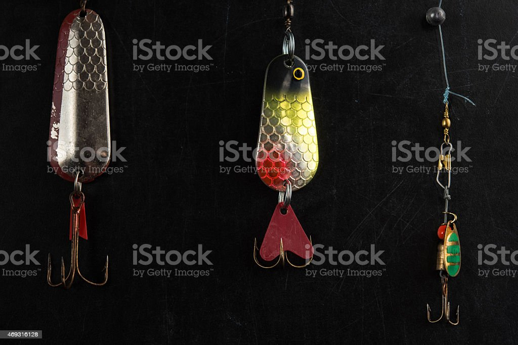 three spoon loors on blackboard stock photo