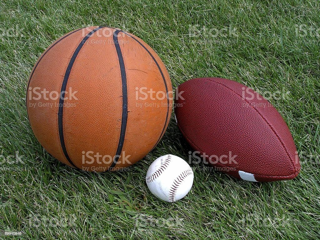 Three Sports royalty-free stock photo