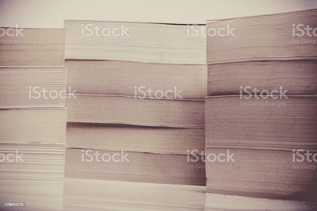 Three Stacks of Books stock photo