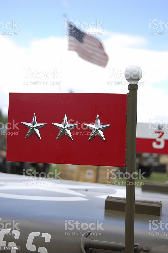 Three Star American General. stock photo
