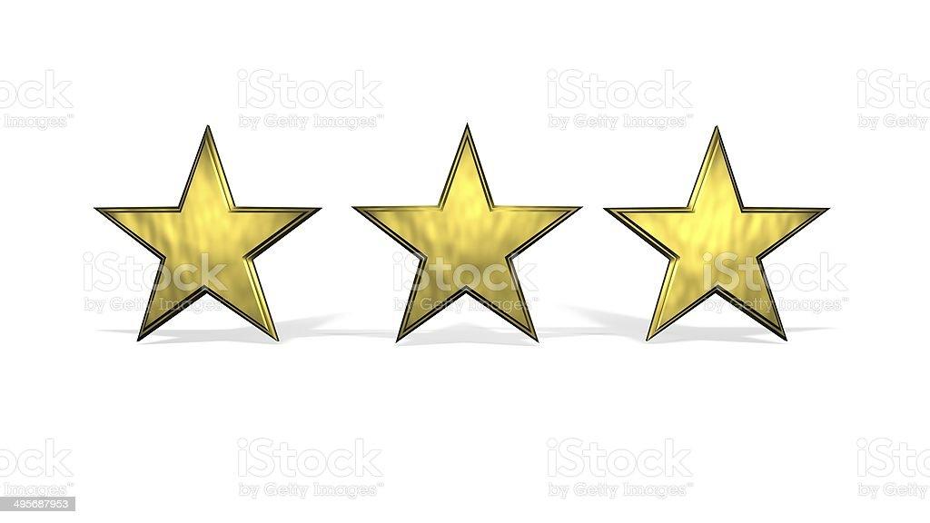 Three Stars stock photo