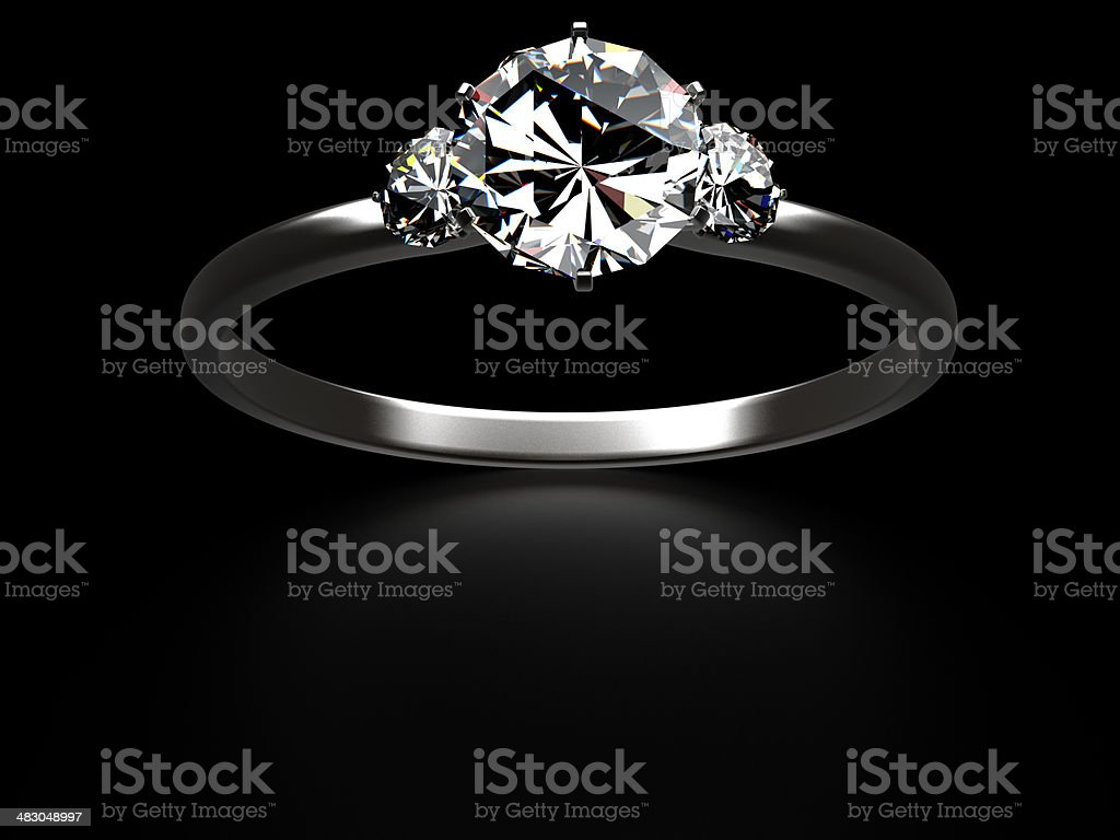 Three Stone Rings on black royalty-free stock photo