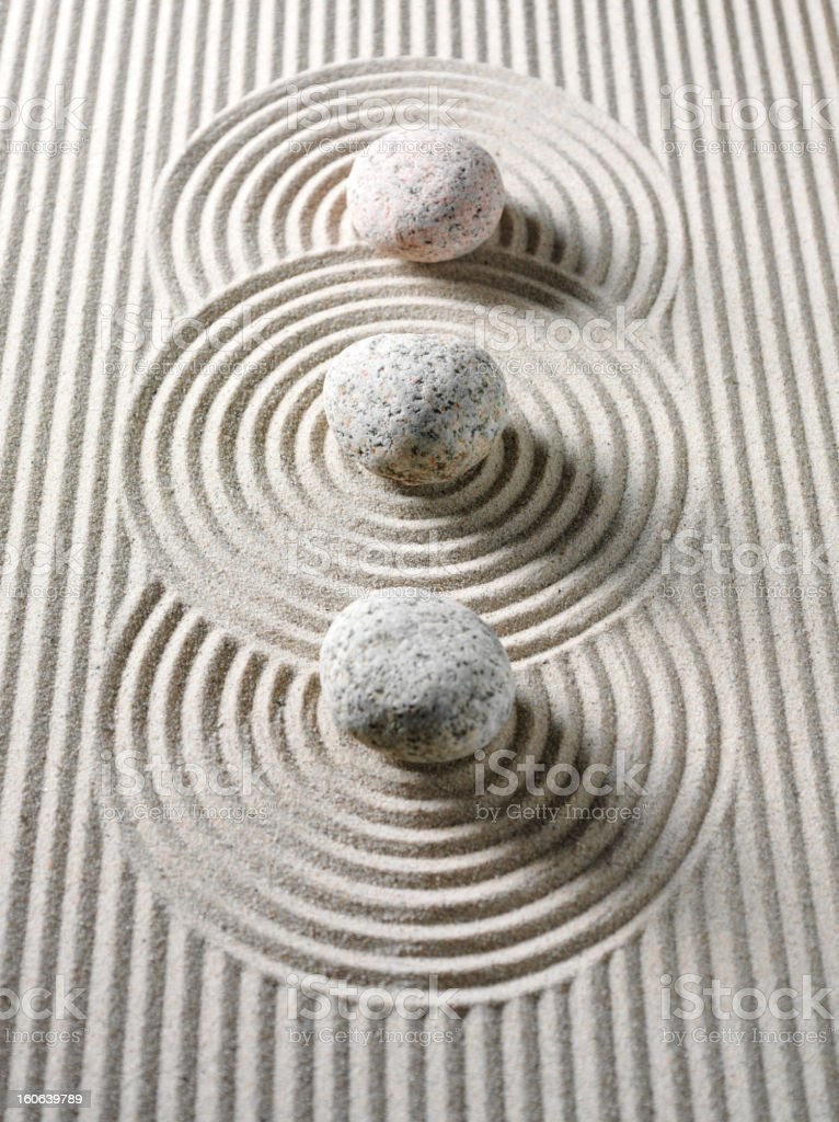 Three Stones for Feng Shui stock photo