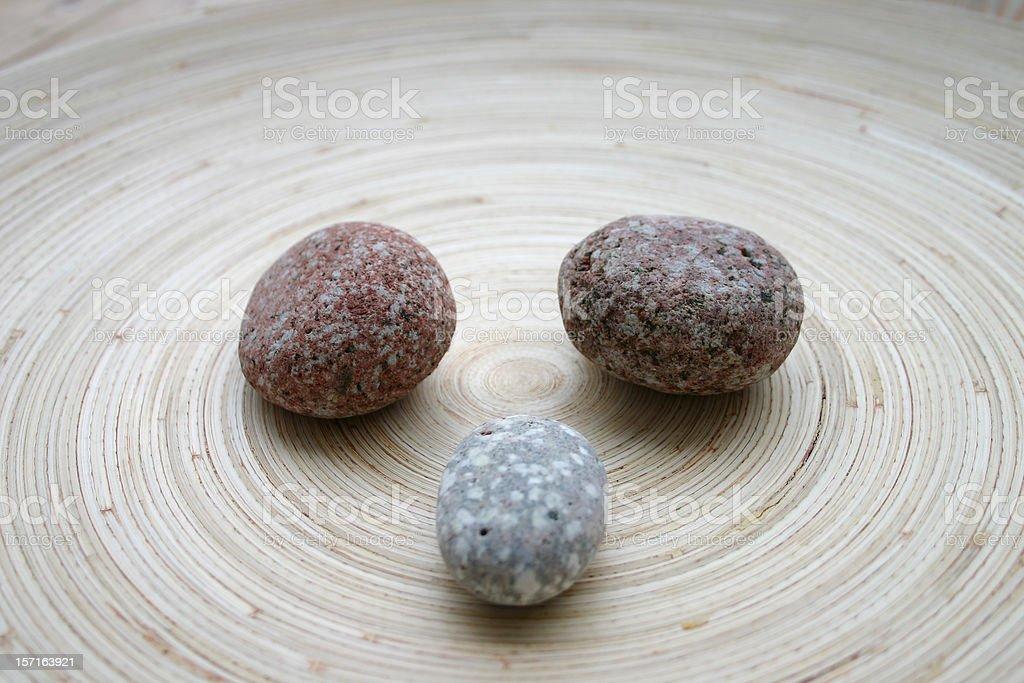 three stones stock photo