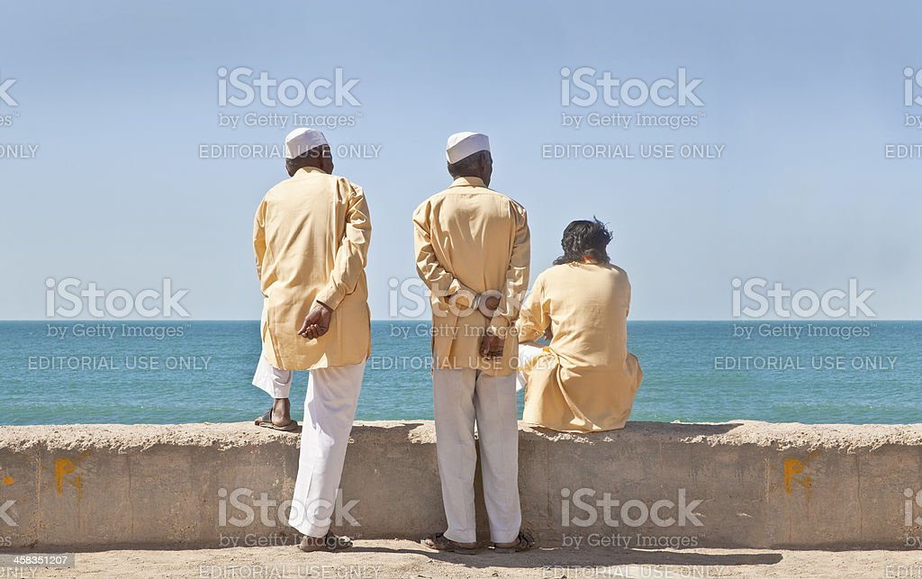 Three stooges waitng time pass stock photo