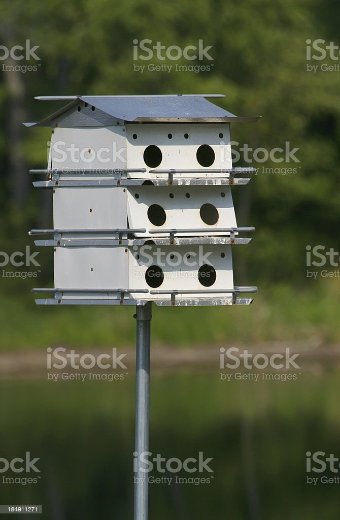 Three story Birdhouse royalty-free stock photo