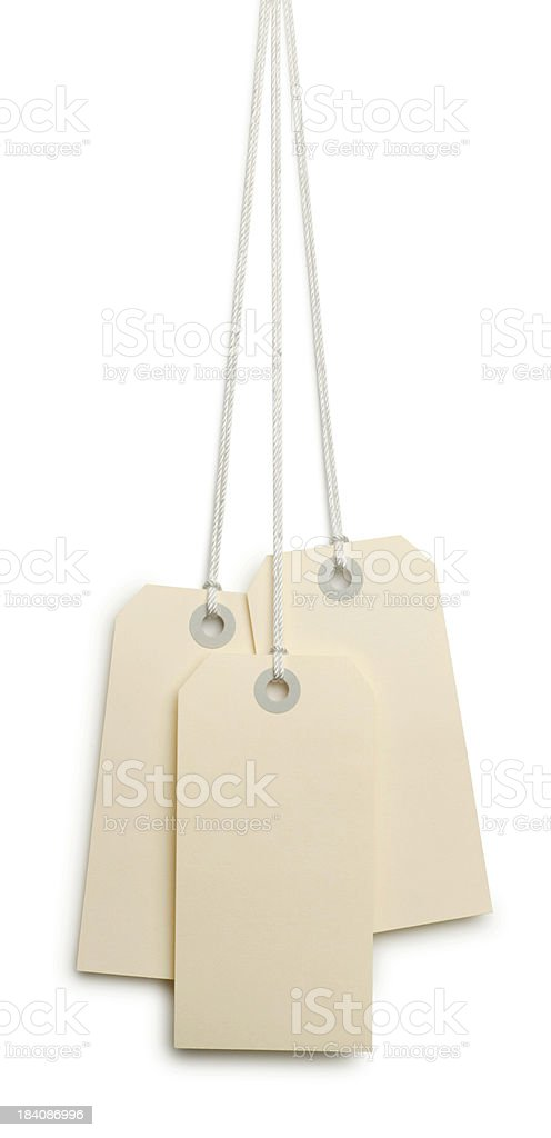 Three Tags royalty-free stock photo