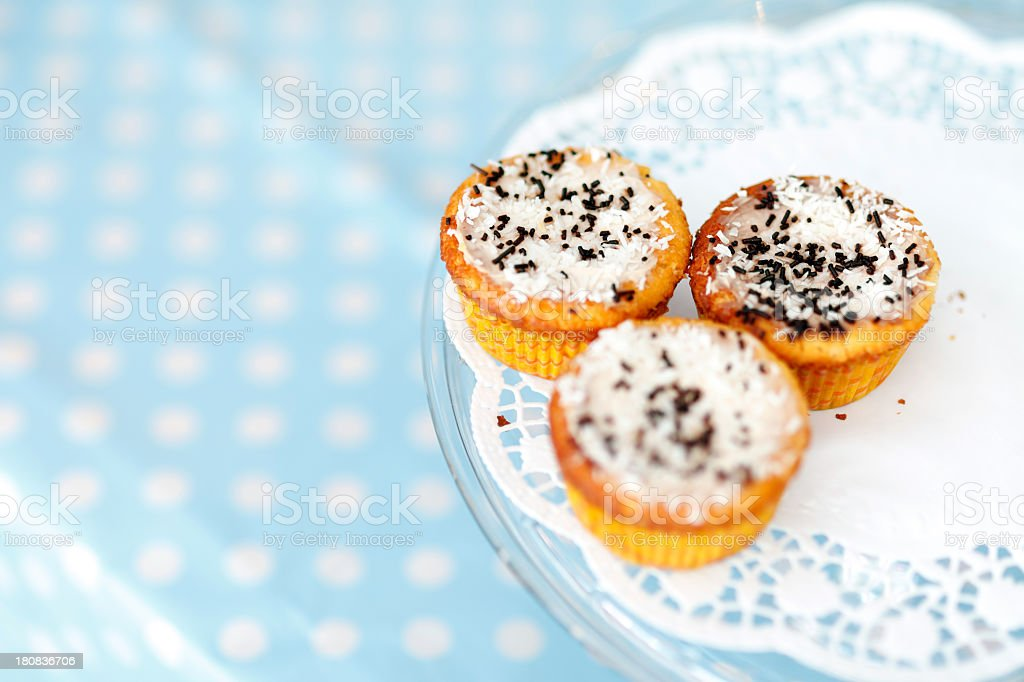 Three tasty muffins royalty-free stock photo