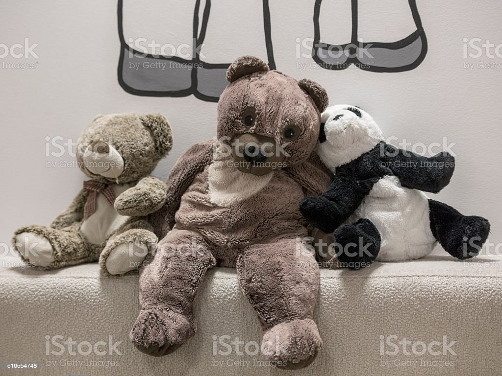 Three teddy bears royalty-free stock photo