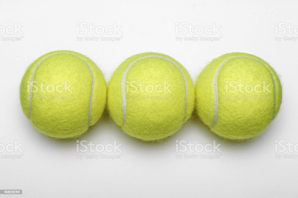 Three Tennis Balls royalty-free stock photo