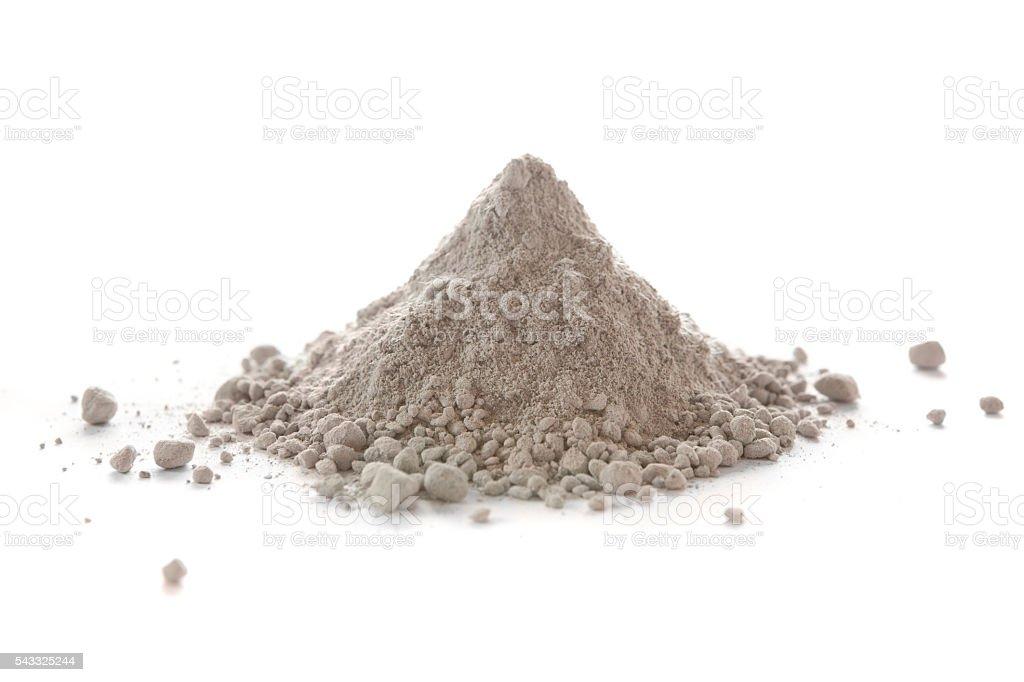 Three thousand degree Fahrenheit refractory cement stock photo