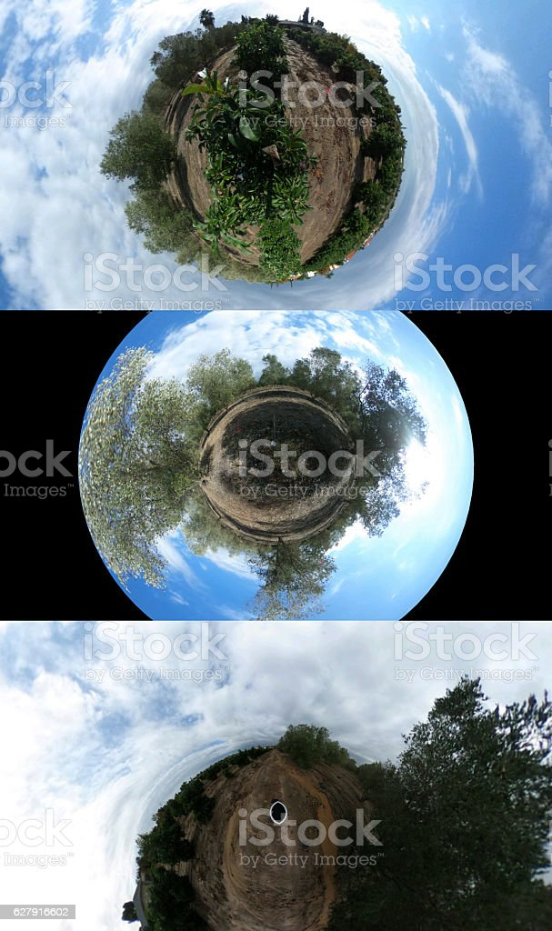 Three Tiny world picture stock photo
