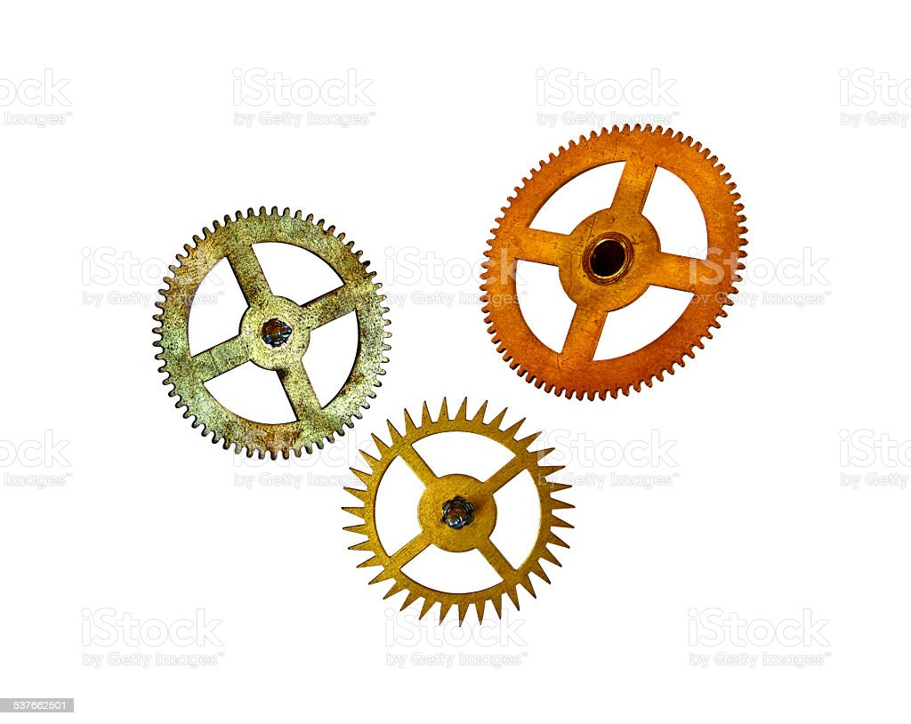 three toothed wheels royalty-free stock photo