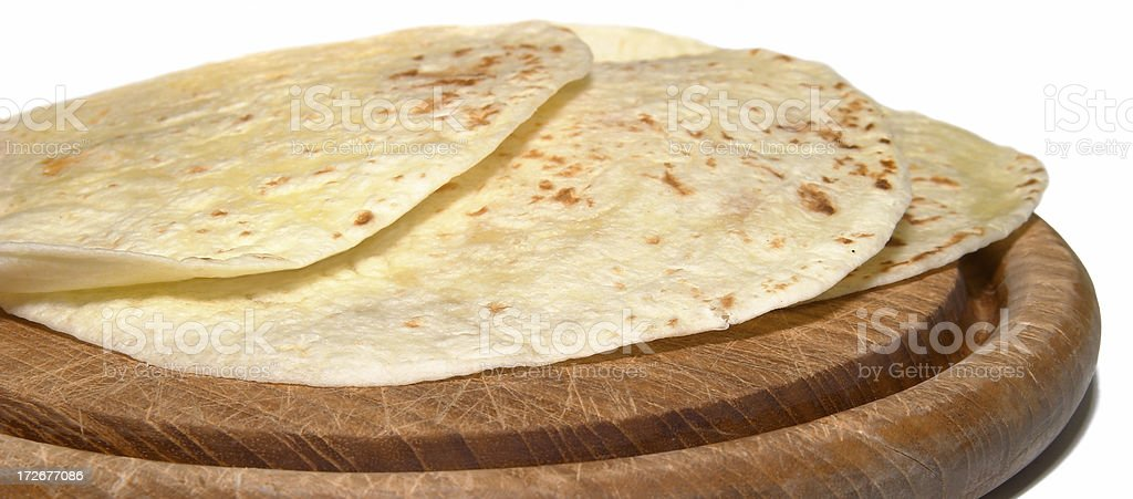 three tortillas isolated royalty-free stock photo