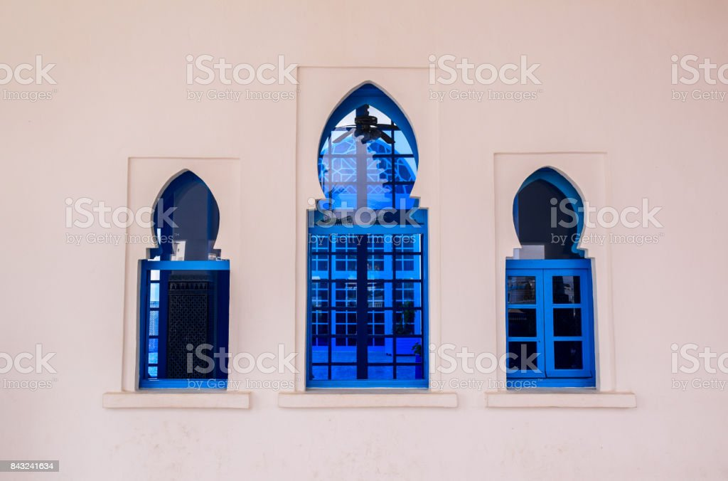 Three traditional windows stock photo