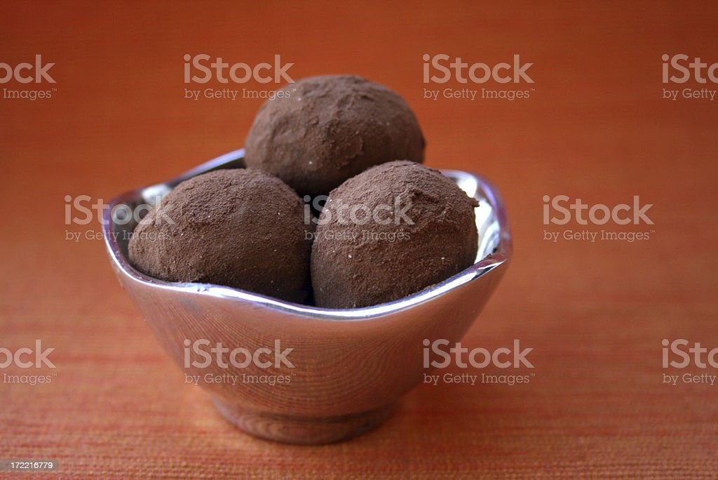 three truffles royalty-free stock photo