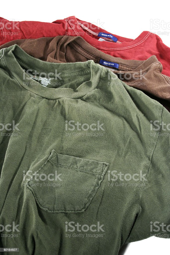 Three T-Shirts royalty-free stock photo