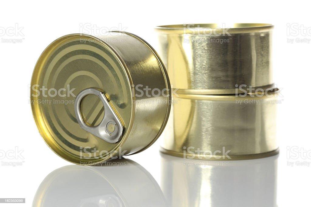 Three tuna cans royalty-free stock photo