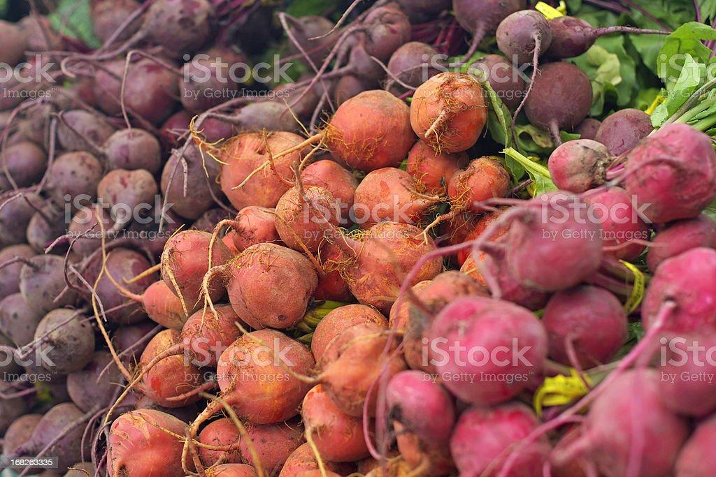 three types of beets stock photo