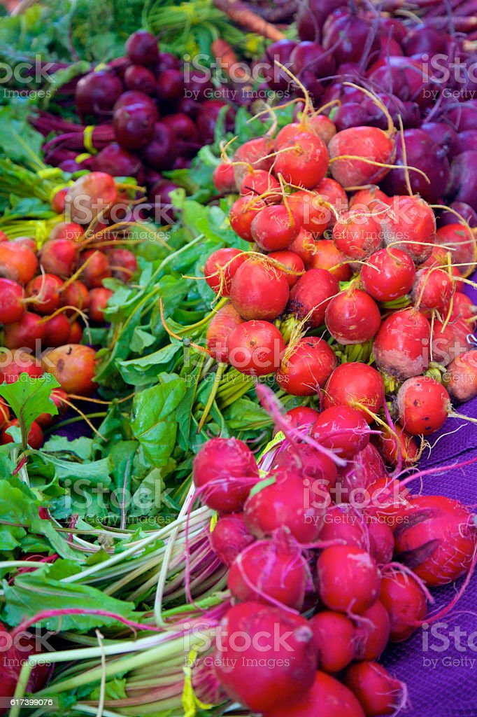 three types of beets stock photo