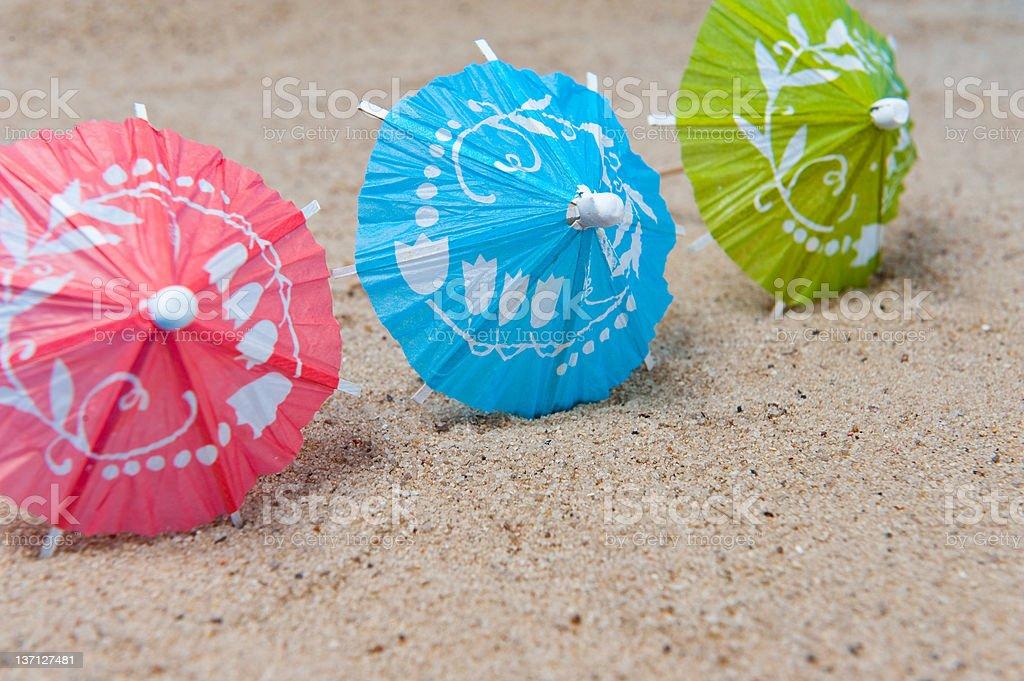 Three umbrellas royalty-free stock photo