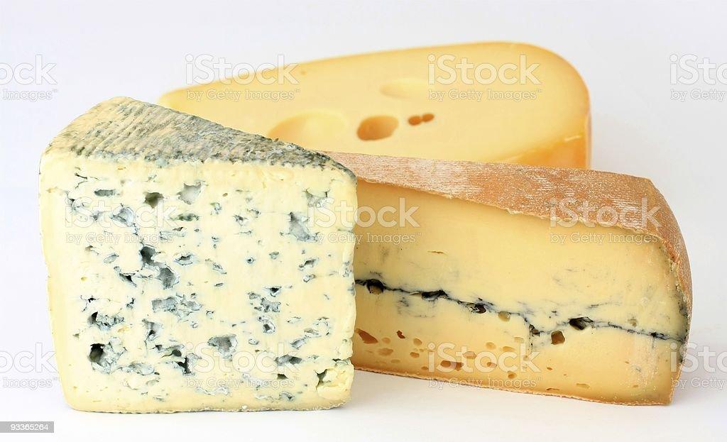 Three varieties of french cheese stock photo
