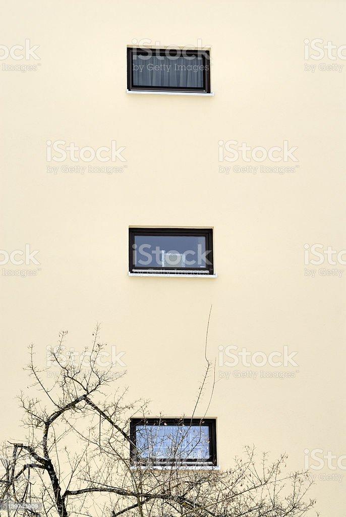 Three vertical Windows royalty-free stock photo