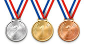 Three Victory Medals