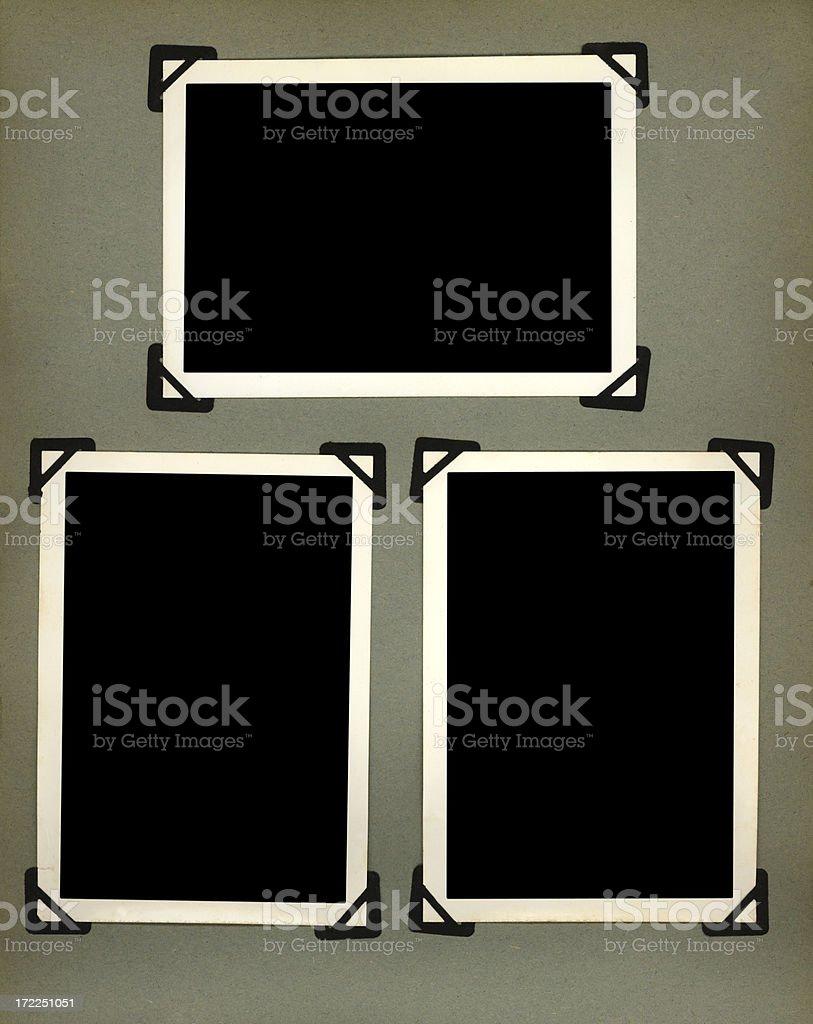 three vintage photo frames royalty-free stock photo
