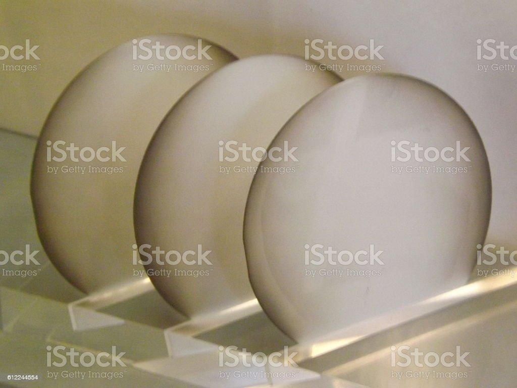 Three Wafers stock photo