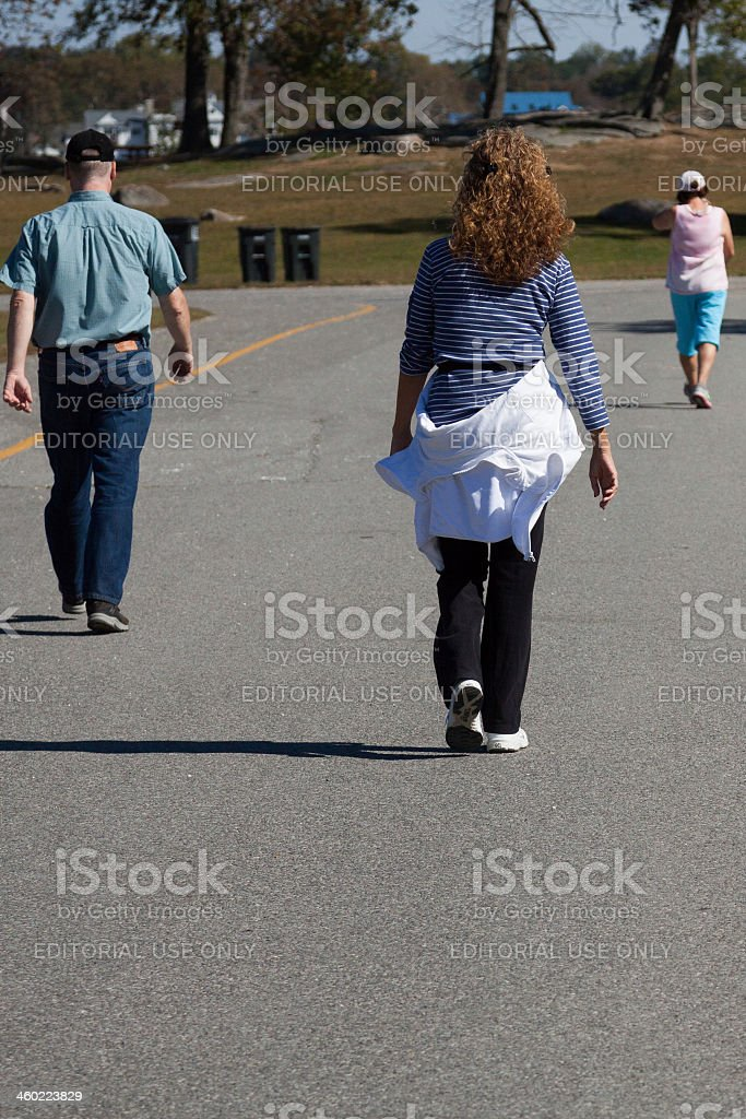 three walkers royalty-free stock photo