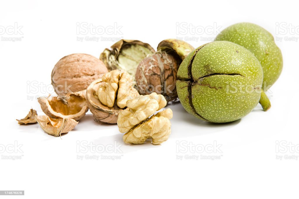 Three walnuts XXXL royalty-free stock photo