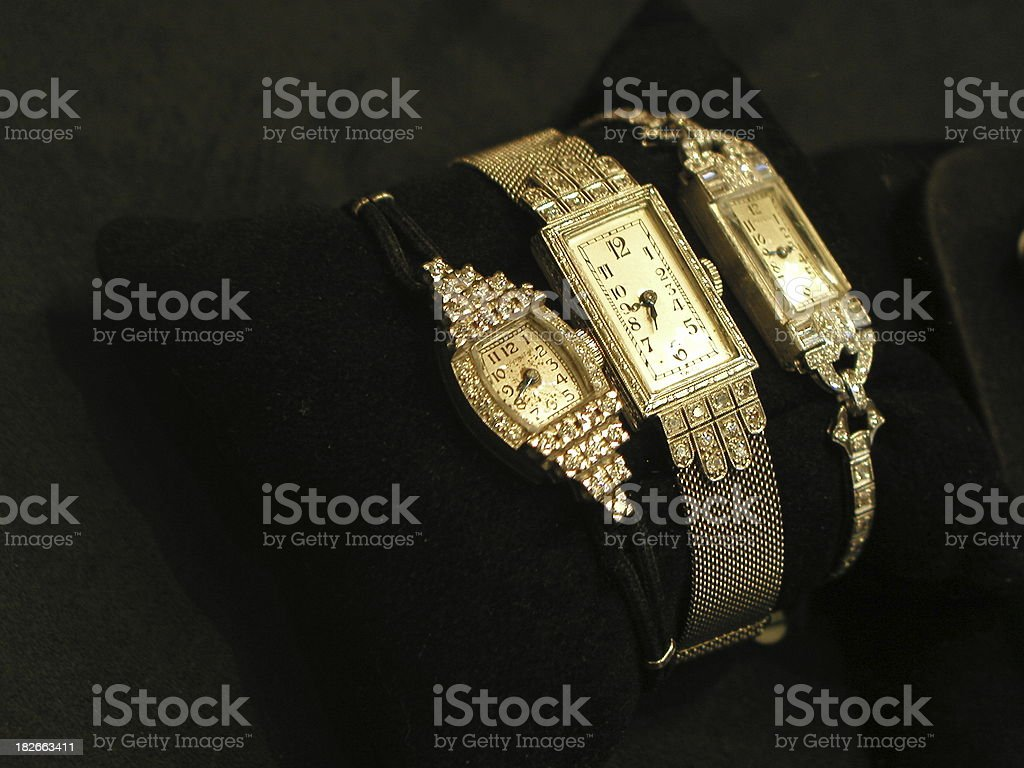 Three watches in Florence stock photo