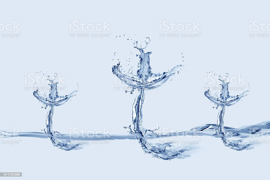 Three Water Crosses stock photo