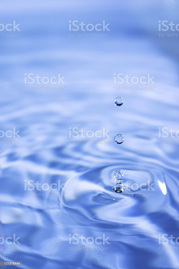 Three water droplets royalty-free stock photo