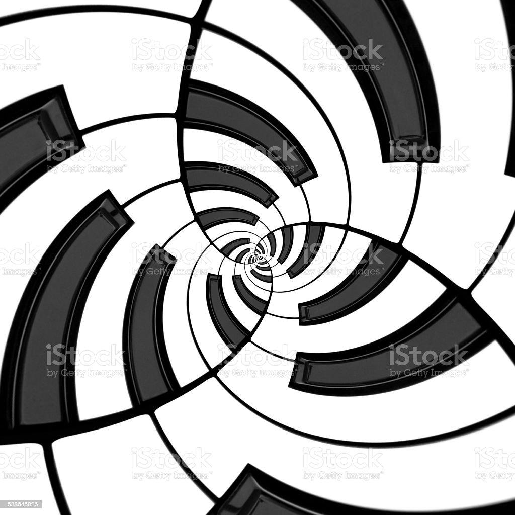 Three Way Keyboard Spiral stock photo