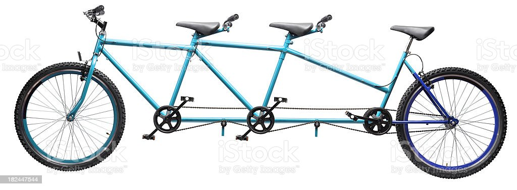 three wheel tandem bicycle stock photo